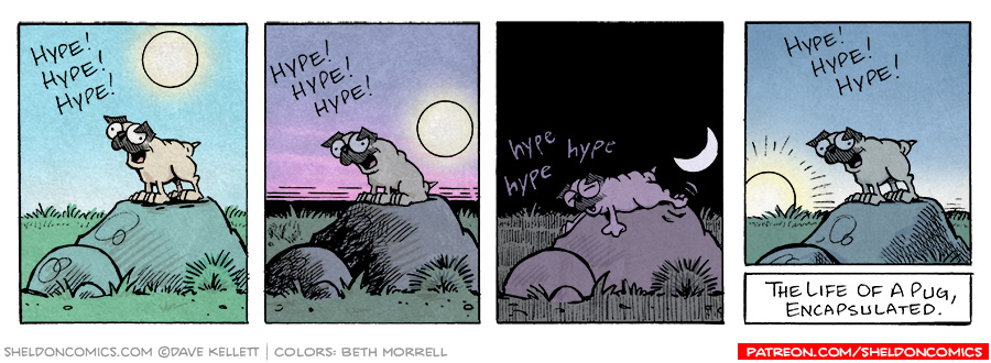 strip for February / 1 / 2006 - Life of a Pug
