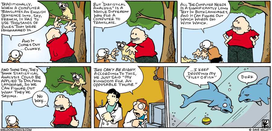 strip for June / 18 / 2006 - Statistical analysis and decoding language...