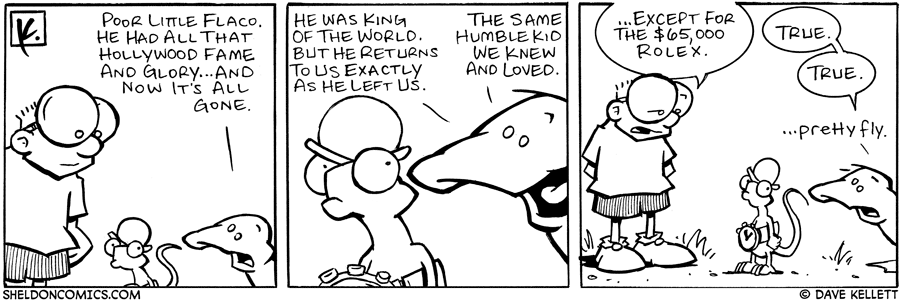 strip for June / 30 / 2006 - Fame and glory fades...