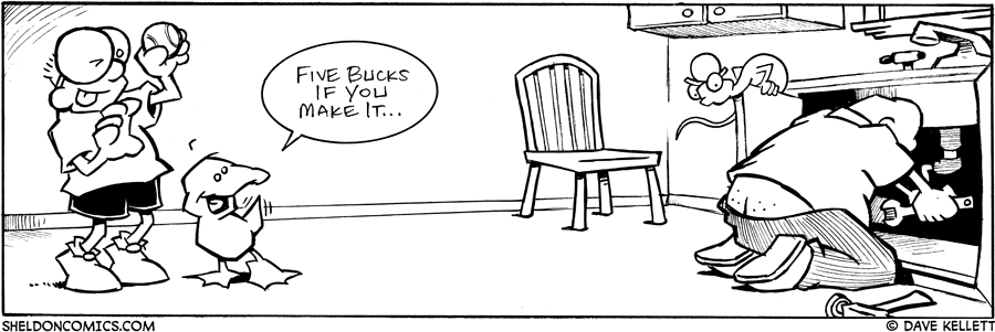 strip for July / 1 / 2006 - The plumbing game...
