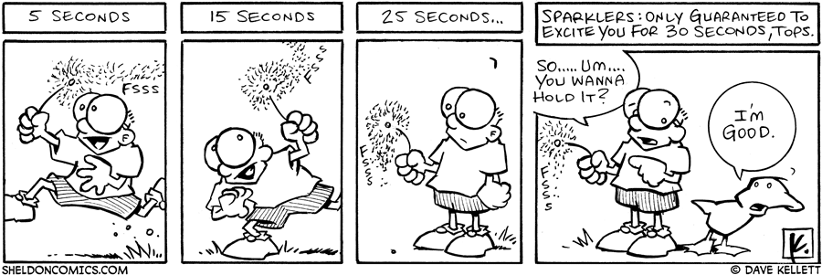 strip for July / 3 / 2006 - Sparklers!!