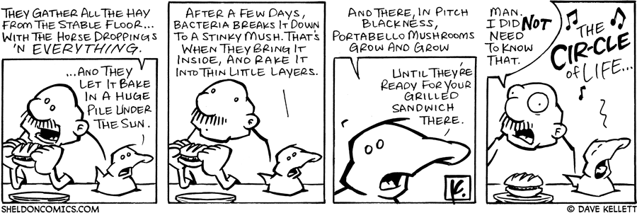 strip for July / 7 / 2006 - How to: Portabello Mushrooms