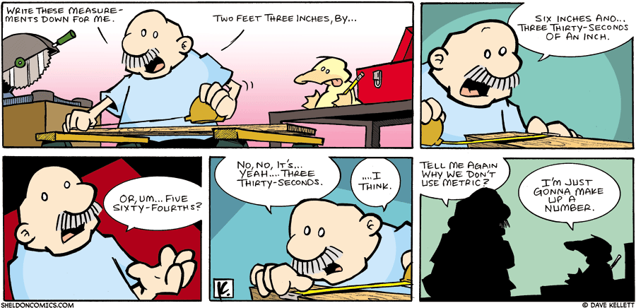 strip for July / 9 / 2006 - Two Feet Three Inches, By.....
