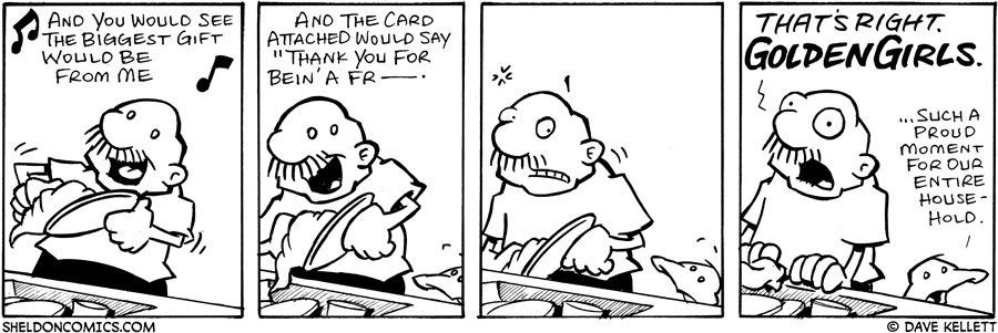 strip for July / 10 / 2006 - Cleaning Dishes....