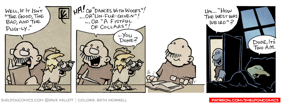 strip for July / 12 / 2006 - The Good, the Bad, and the Pug-ly