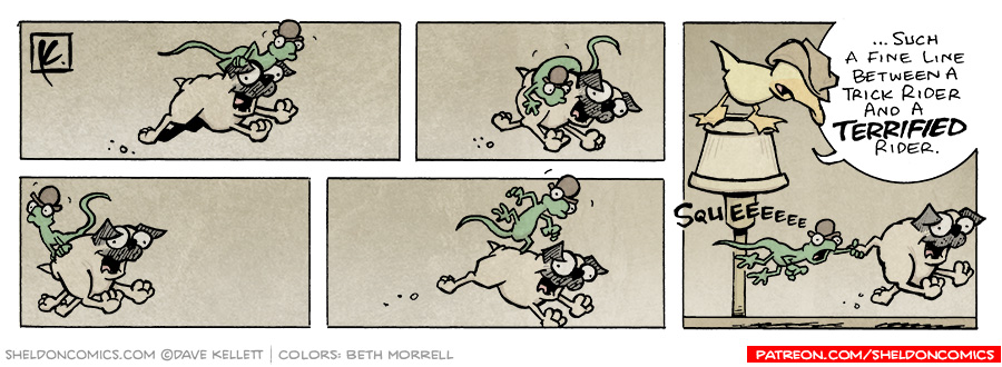 strip for July / 17 / 2006 - Pug Rodeo..