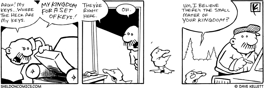 strip for July / 26 / 2006 - My Kingdom for a Set of Keys!