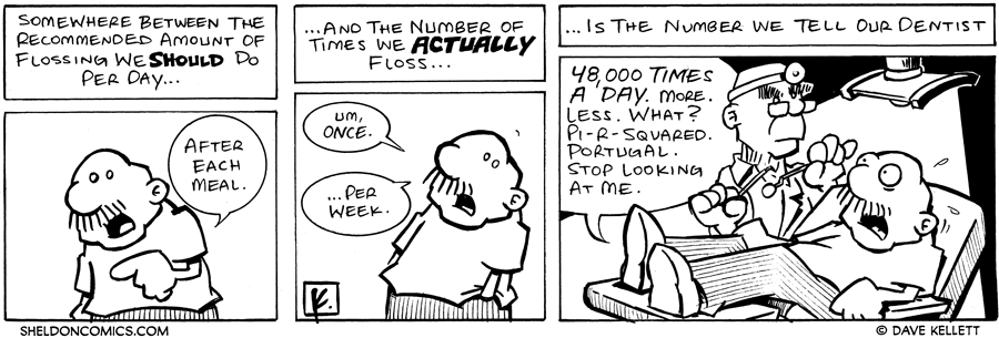 strip for July / 27 / 2006 - Do You Floss?
