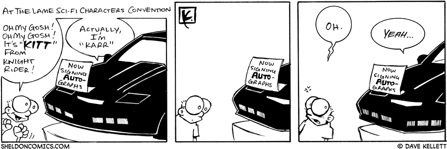strip for August / 1 / 2006 - It's Kitt from Knight Rider!