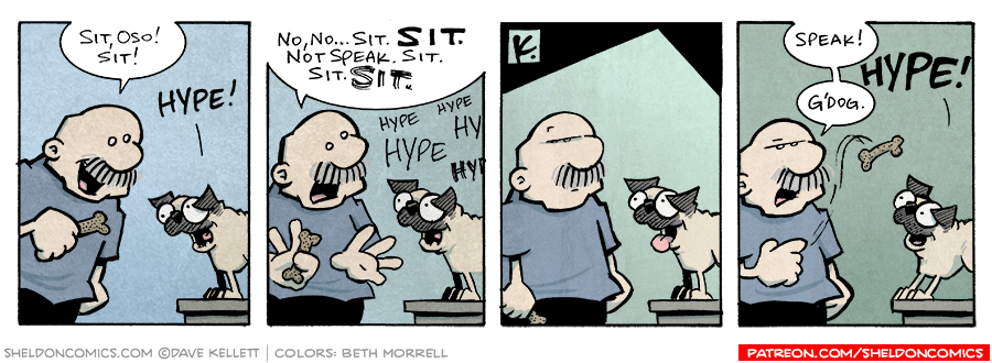 strip for August / 9 / 2006 - SIT DOG!