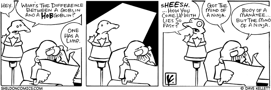 strip for August / 11 / 2006 - One Has a Limp....