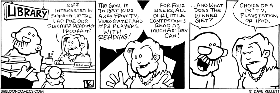 strip for August / 12 / 2006 - Summer Reading Program... REWARD!