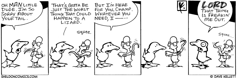 strip for August / 14 / 2006 - Worst Thing that Could Happen to a Lizard