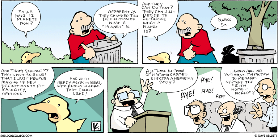 strip for August / 20 / 2006 - What is a Planet?