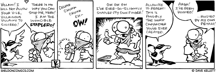 strip for May / 1 / 2007 - Can Arthur stop the dreaded masked villain, Staplero?