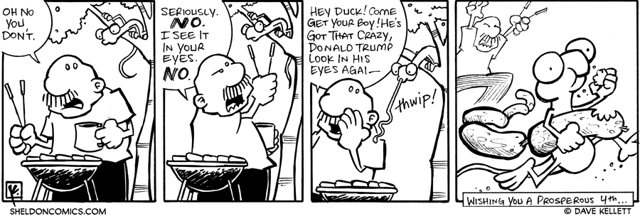 strip for July / 4 / 2007 - When grilling, watch out for...