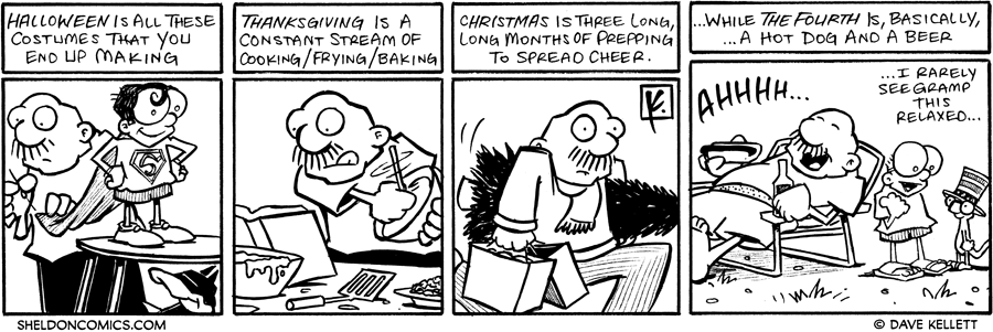 strip for July / 5 / 2007 - What do holidays really entail?