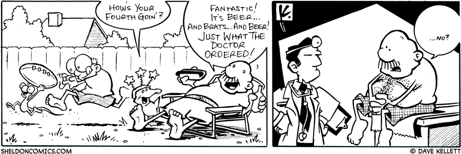 strip for July / 6 / 2007 - How's your Fourth goin'?