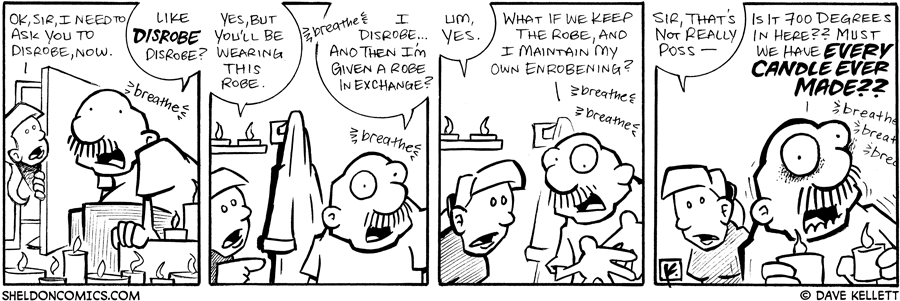 strip for July / 13 / 2007 - Will Gramp take the robe?