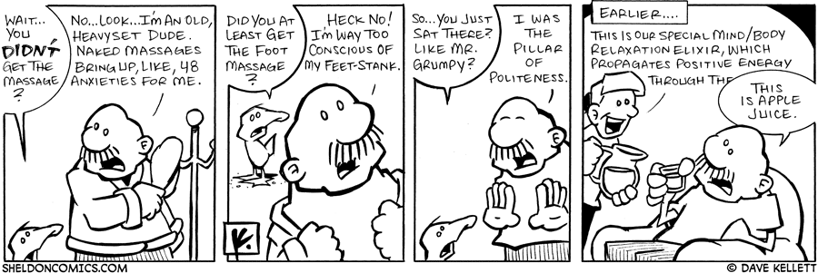 strip for July / 17 / 2007 - What did Gramp do at the spa?
