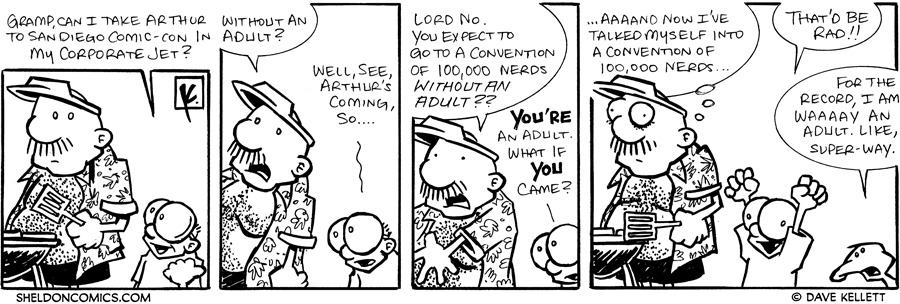strip for July / 25 / 2007 - Will Gramp let Sheldon go to San Diego Comic-Con?