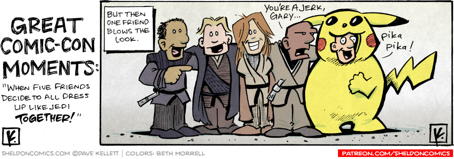 strip for July / 28 / 2007 - Great Comic-Con Moments... when friends dress up together...
