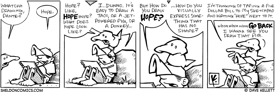 strip for August / 2 / 2007 - How do you draw hope?