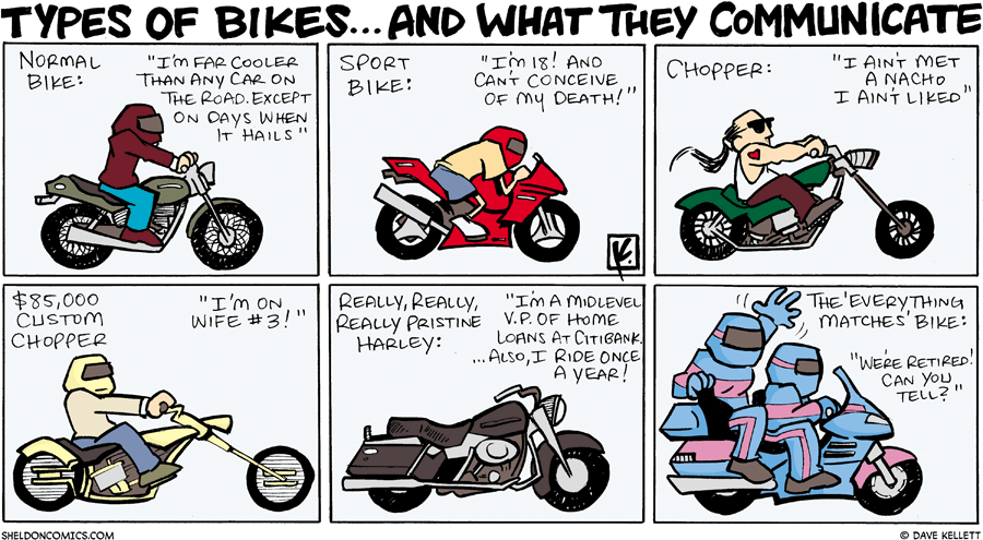 strip for August / 5 / 2007 - The type of bike you own says you are...