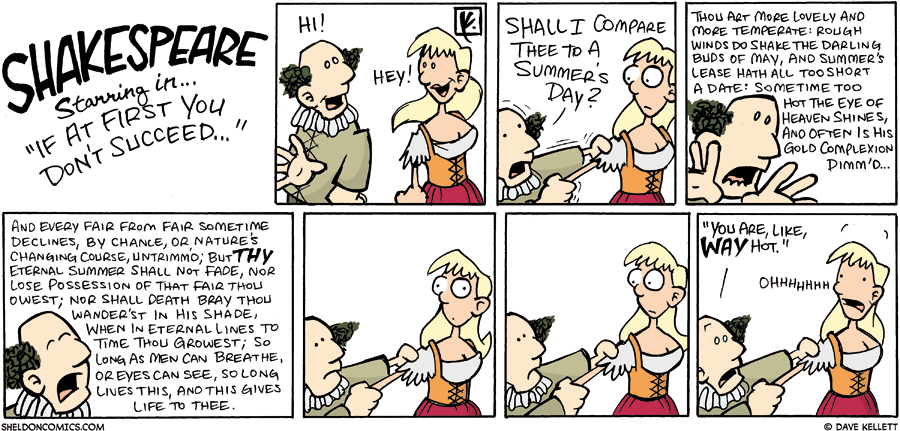 strip for August / 12 / 2007 - How did Shakespeare pick up women?