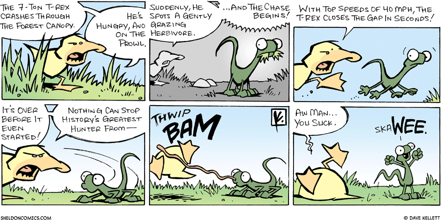 strip for August / 19 / 2007 - Will the T-rex catch his prey?