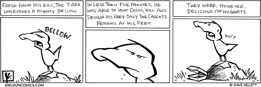 strip for August / 20 / 2007 - The T-rex can kill...