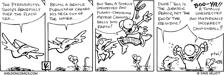 strip for August / 21 / 2007 - Will the Pterodactyl catch his prey?