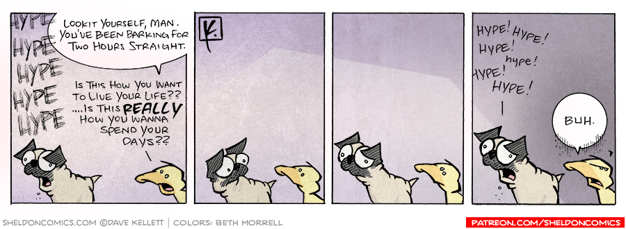 strip for August / 30 / 2007 - Pugs spend their days...