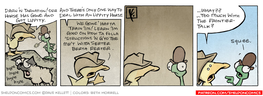 strip for August / 31 / 2007 - How to deal with an uppity horse... pug...