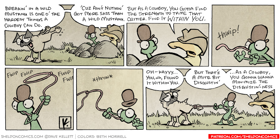 strip for September / 2 / 2007 - Can Flaco tame a wild mustang?