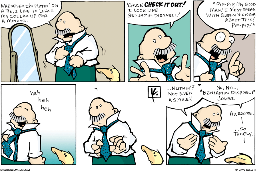strip for September / 9 / 2007 - This tie makes me look like...