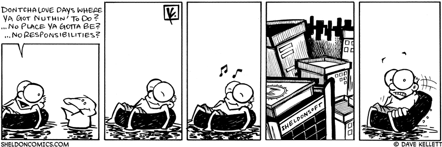 strip for September / 10 / 2007 - Can Sheldon relax?