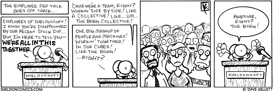 strip for September / 13 / 2007 - How does Sheldon't pep talk go?