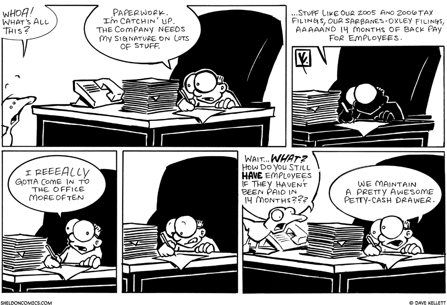strip for September / 15 / 2007 - What papers does Sheldon need to sign?