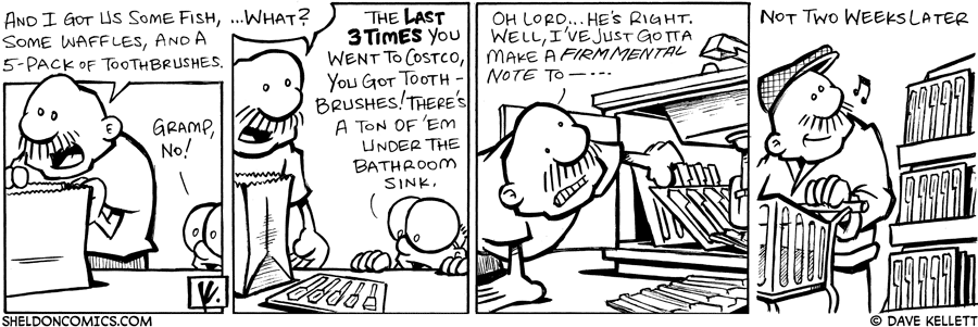 strip for October / 6 / 2007 - What does Gramp like to buy in bulk?