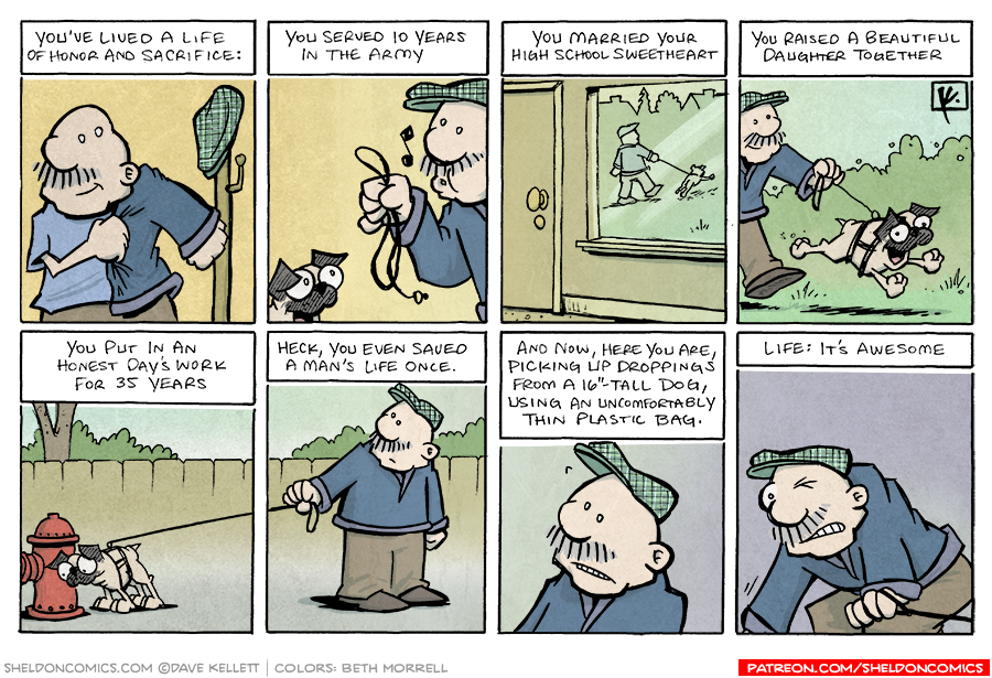 strip for October / 8 / 2007 - What does Gramp think about life?