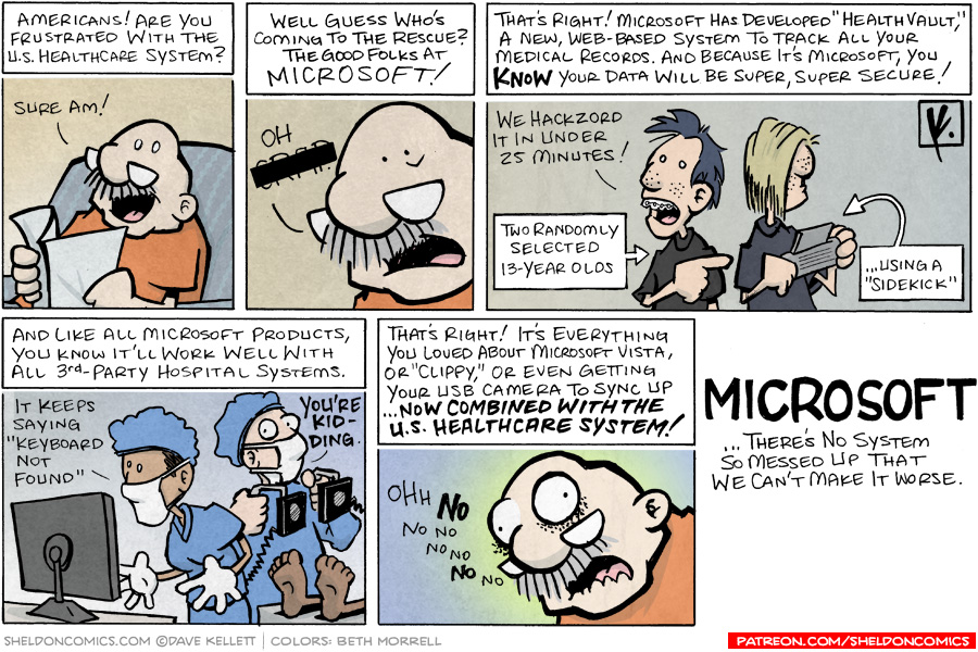 strip for October / 10 / 2007 - Is Microsoft coming to the rescue?