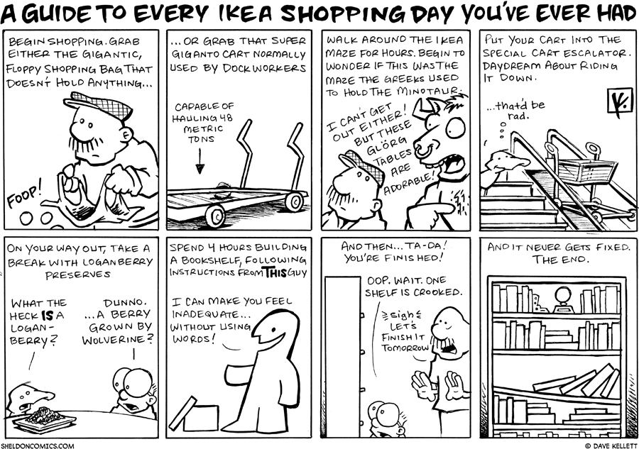 strip for October / 22 / 2007 - Do you need a guide to Ikea?