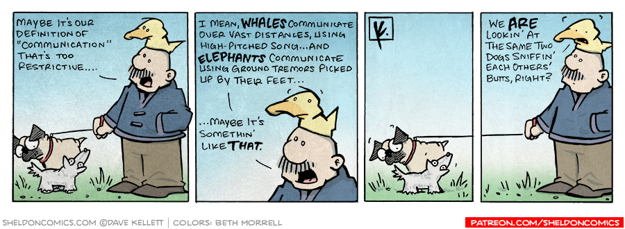 strip for October / 23 / 2007 - What's a dog's form of communication?