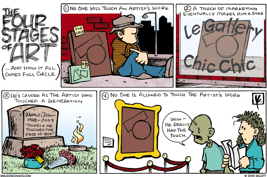 strip for November / 4 / 2007 - What are the four stages of art?