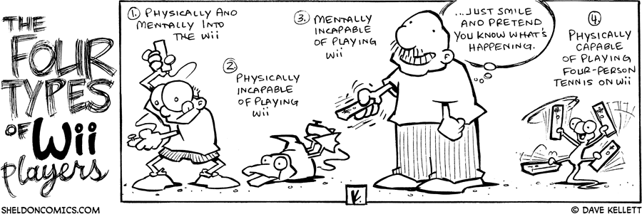 strip for November / 7 / 2007 - What are the types of Wii players?