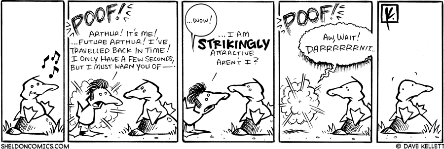 strip for November / 8 / 2007 - Who comes to visit Arthur?