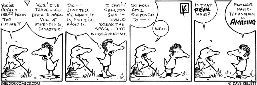 strip for November / 9 / 2007 - What does Arthur do when he meets his future self?