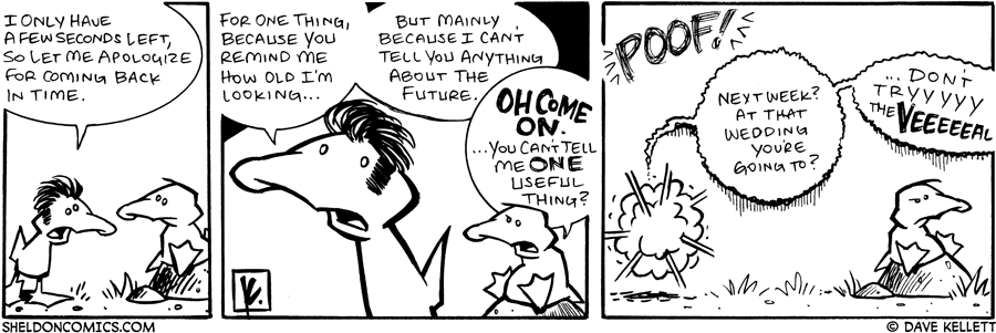 strip for November / 12 / 2007 - What will happen in the last seconds that Future Arthur has with Present Arthur?