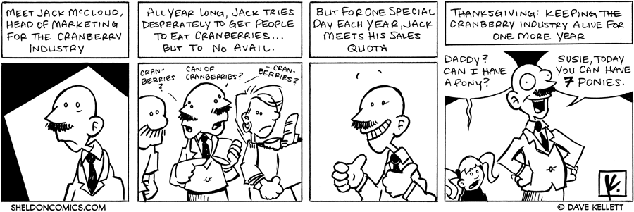strip for November / 22 / 2007 - Who eats cranberries?